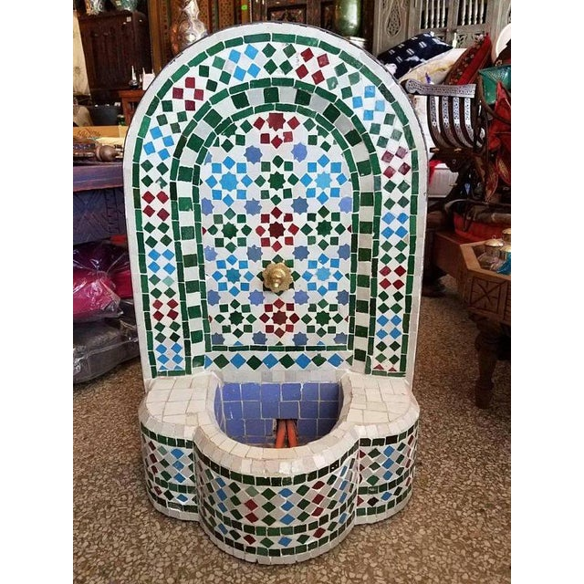 Moroccan Mosaic Fountain For Sale - Image 5 of 5