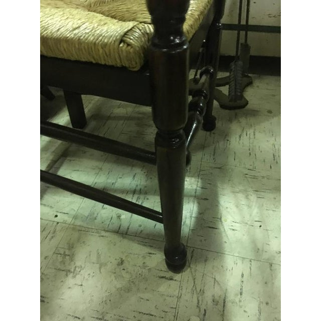 Early 20th Century Four English Oak Ladder Back Armchairs For Sale - Image 5 of 7