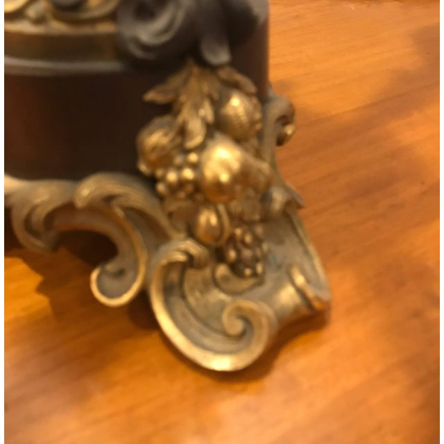 19th Century Louis XV Bronze and Ormolu Electrified Candelabra For Sale - Image 9 of 11
