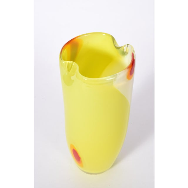 Mid-Century Modern, Art Deco style Murano glass decorative piece or vase. The vase is in excellent vintage condition,...
