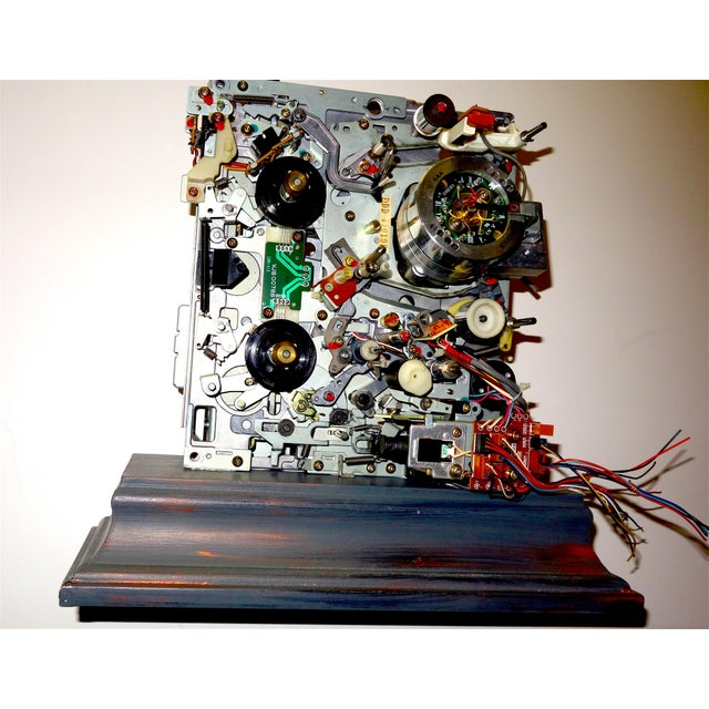 Offered for your consideration is this mid 20th century component art, wood mounted sculpture by Bill REITER. Television...