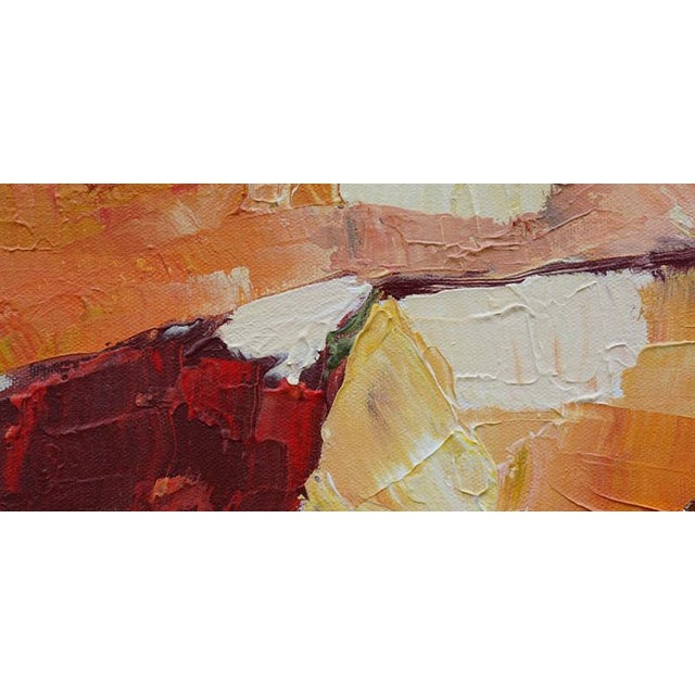 """Laurie MacMillan Laurie MacMillan """"Red Hot"""" Abstract Landscape For Sale - Image 4 of 6"""