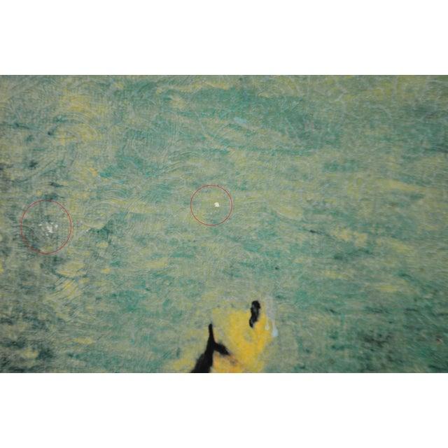 """Vintage Gold Gilt Framed Renoir """"Boating on the Seine"""" Print on Board For Sale - Image 11 of 13"""