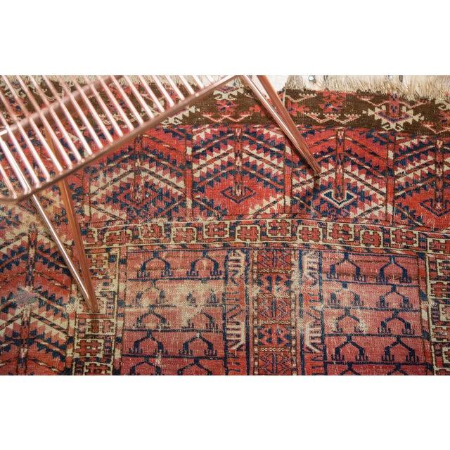 """Antique Turkmen Square Rug - 3'5"""" X 3'9"""" - Image 5 of 10"""