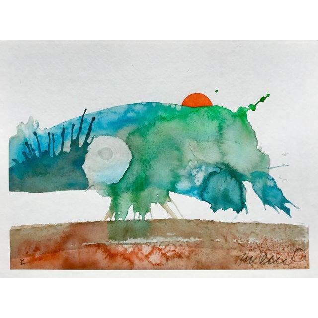 Original watercolor painting on strathmore paper. Minimalist art