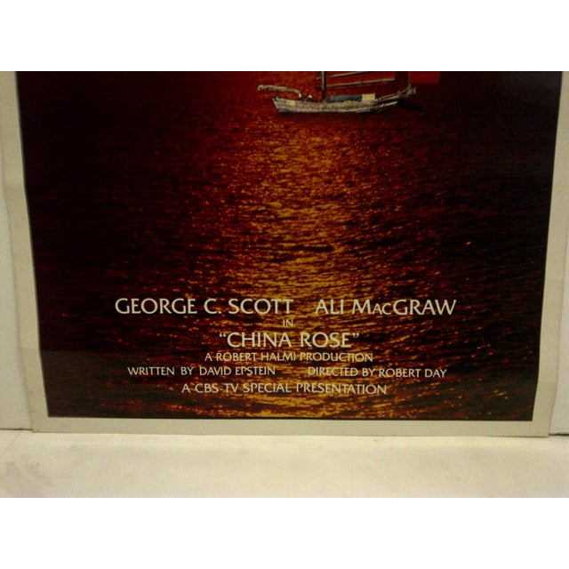 """Vintage Television Movie Poster """"China Rose"""" George C. Scott & Ali Macgraw 1983 For Sale - Image 4 of 5"""