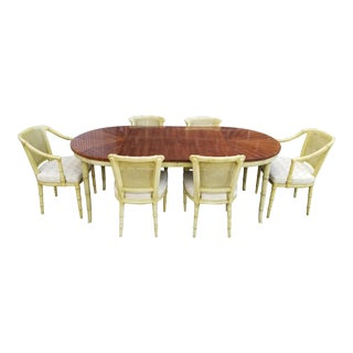 Henredon Faux Bamboo Dining Set - 7 Piece Set For Sale