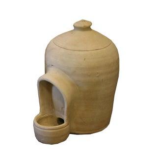 Antique Spanish Non-Glazed Terracotta Pot For Sale