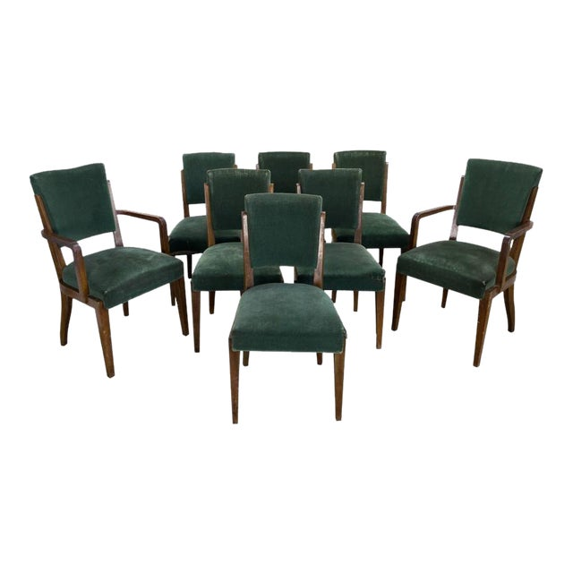 Set of Eight Dining Chairs, French, 1930s - Image 1 of 11