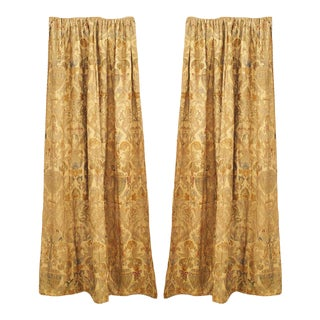 Silk and Metallic Thread Drapes For Sale