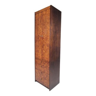 Burl Wood Linen Cabinet by Century Furniture For Sale
