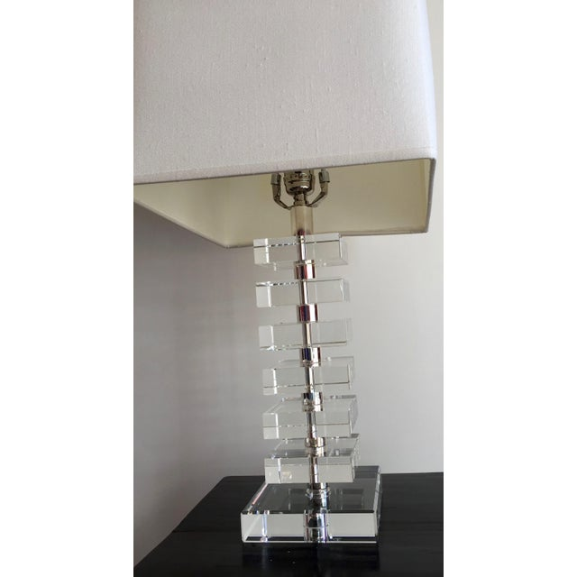 Robert abbey vintage stacked crystal table lamp chairish robert abbey vintage stacked crystal table lamp image 5 of 10 aloadofball Choice Image
