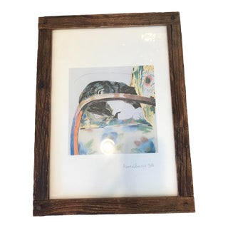 Signed Anne Robinson Antique Barn Lithograph For Sale
