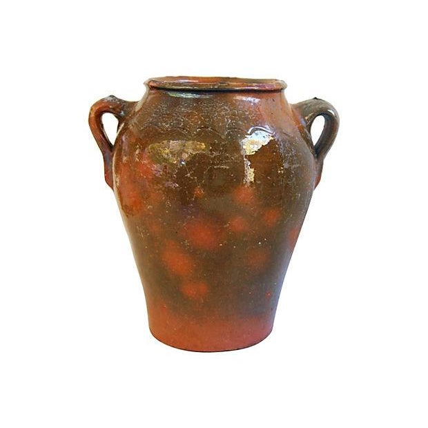 Large French Antique Brown Glazed Confit Pot - Image 6 of 6