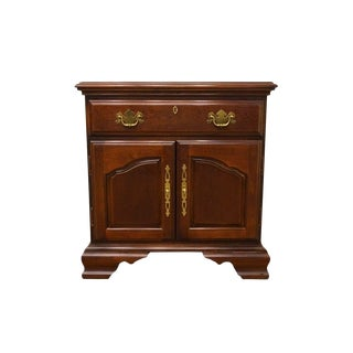 "Bernhardt Furniture Cherry Chippendale Style 25"" Nightstand For Sale"