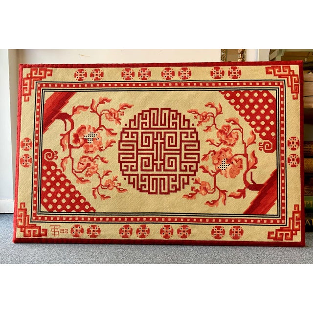 Chinese Textile Art Needlepoint Panel For Sale - Image 9 of 9