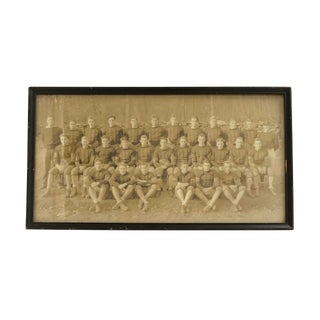 Early 20th Century Antique Football Team Photograph For Sale