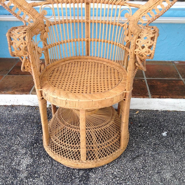 """1970s """"Emmanuelle"""" Style """"Peacock"""" Chair For Sale - Image 5 of 11"""