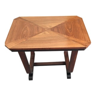 Art Deco Wood End Table / Side Table