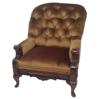 Antique Victorian Parlor Chair For Sale