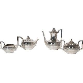 Circa 1900 Silver Gorham Tea & Coffee Set For Sale