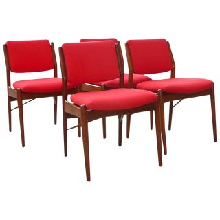 1960s Vintage Arne Vodder for Sibast Mobler Teak Dining Chairs- Set of 4 For Sale