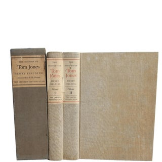 """1952 """"Signed Limited Edition, the History of Tom Jones, 2 Vols."""" Coffee Table Book For Sale"""