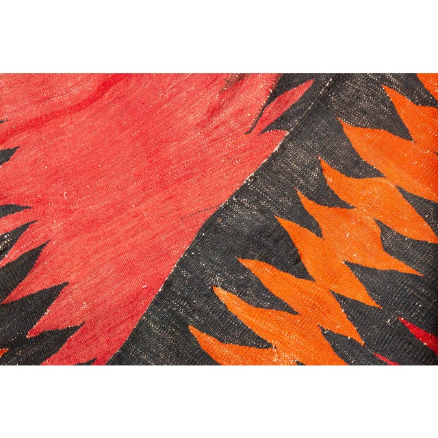 Vintage Mid-Century Black and Red Wool Runner Rug - 3′8″ × 10′ For Sale In New York - Image 6 of 7