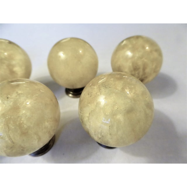1960s Vintage Mid Century Modern Ruth Richmond Lucite Drawer Knobs / Door Pulls - Set of 8 For Sale - Image 11 of 13