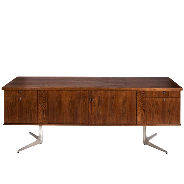 Midcentury Rosewood Credenza For Sale