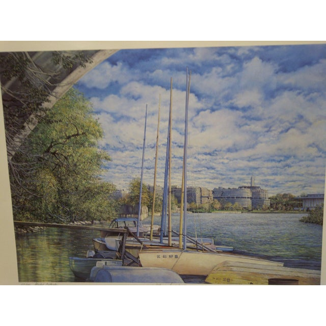 "This is a Limited Edition -- Numbered (157/400) And Signed Print -- ""Potomac Springtime"" -- By Mary Anne Reilly -- 1985"