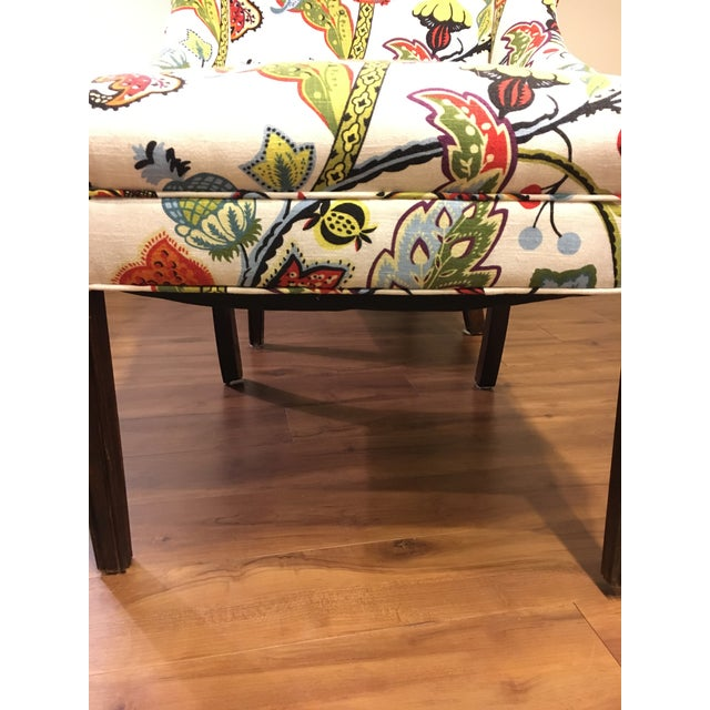 Colorful Reupholstered Slipper Chairs - A Pair - Image 6 of 8