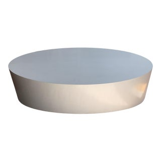 Arteriors Contemporary Modern Oval Coffee Table For Sale