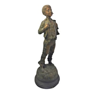 French Metal Figure of a Child For Sale