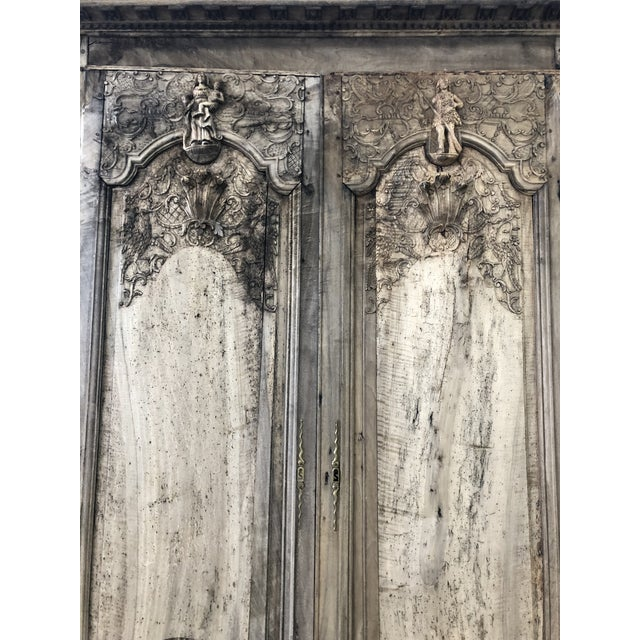 18th. C. French Renaissance Carved Armoire For Sale - Image 12 of 13