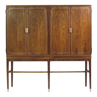 Georg Kofoed Rosewood Cabinet with Eight-Karat White Gold Inlay For Sale