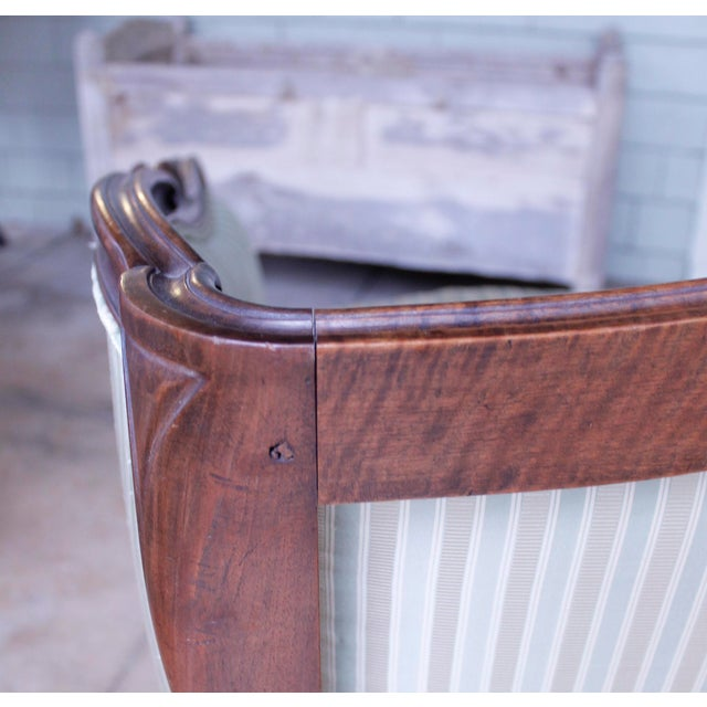Italian Louis XV Style Walnut Sofa For Sale - Image 6 of 13