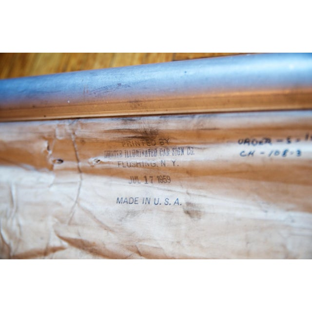 Metal 1950s Vintage New York City Transit Trolley Bus Scroll For Sale - Image 7 of 8