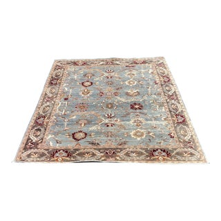 Contemporary Turkish Oushak Wool Rug For Sale