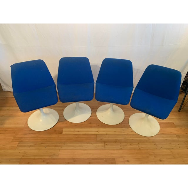 1960s Vintage Borje Johanson Swivel Chairs- Set of 4 For Sale - Image 4 of 10