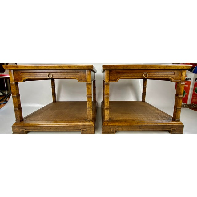 1960s Drexel Heritage Asian Style Side Tables - a Pair For Sale - Image 12 of 13