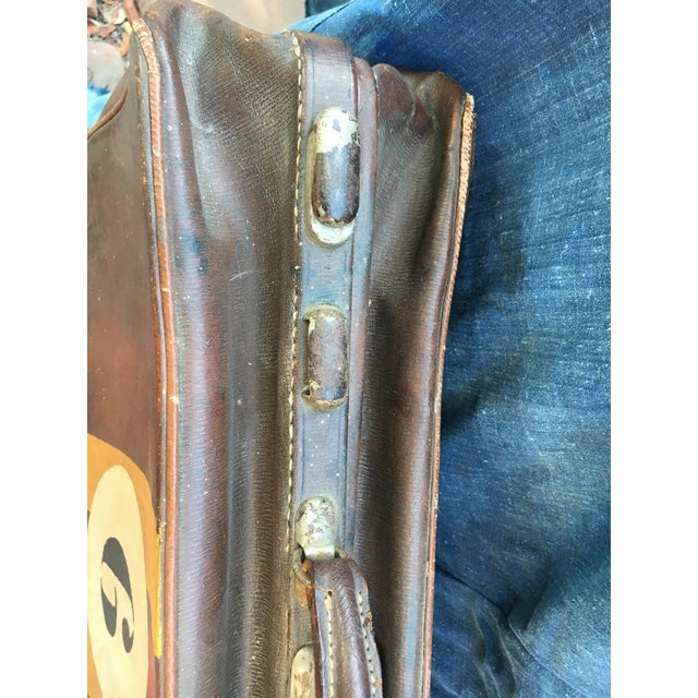 1940's English Leather Suitcase For Sale In Los Angeles - Image 6 of 9