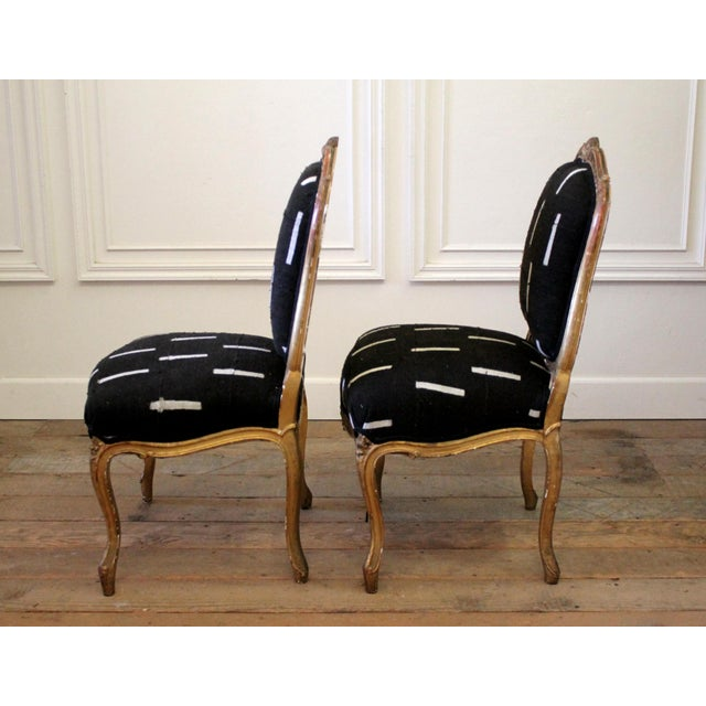 Late 19th Century Giltwood Louis XV Style French Chairs- A Pair For Sale - Image 4 of 13