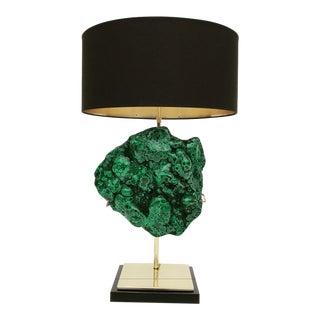Malachite Specimen Lamp