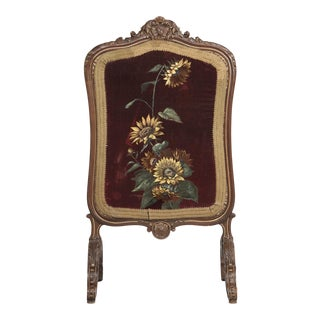 Antique Italian Fireplace Screen For Sale