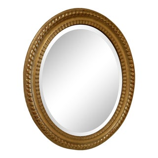 Oval 19th Century Italian Gilt Mirror For Sale