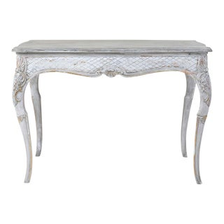 Vintage Louis XVI Painted Cocktail or Coffee Table For Sale