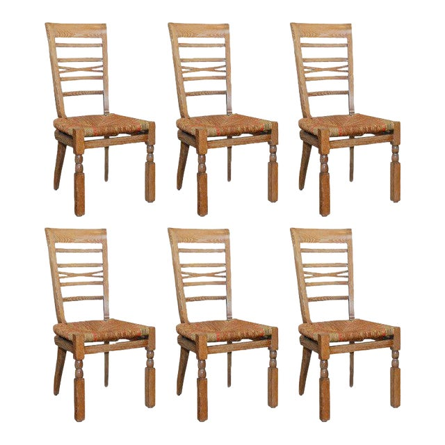 Cool 1940S Vintage French Dining Room Chairs Set Of 6 Ocoug Best Dining Table And Chair Ideas Images Ocougorg