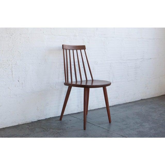 Yngve Ekström Swedish Spindleback Teak Dining Chairs - Set of 4 For Sale In Portland, OR - Image 6 of 10