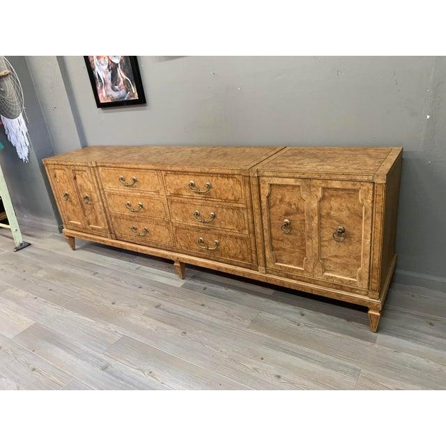 Mid Century MasterCraft Colossal Burl Wood Dresser For Sale - Image 9 of 11